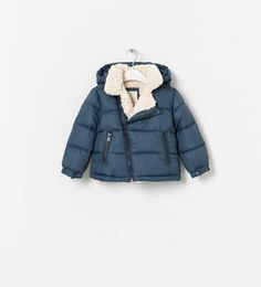 Image 1 of QUILTED JACKET WITH REMOVABLE HOOD from Zara