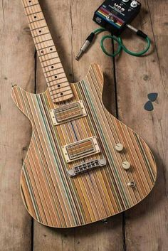 ... like the horizontally opposed grain of the top wood on the pickup covers #electricguitar #Guitartypes
