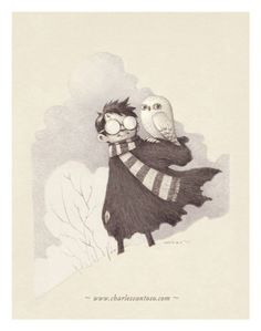 Harry Potter and Hedwig by Charles Santoso