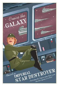 Stay on target...: Star Wars Travel Posters by Steve Thomas