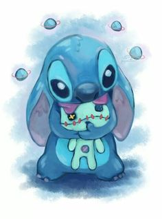Galaxy Stitch by as-obu on DeviantArt Cartoon Wallpaper Iphone, Disney Phone Wallpaper, Cute Cartoon Wallpapers, Cute Disney Drawings, Kawaii Drawings, Cute Drawings, Disney Stitch, Lilo And Stitch Quotes, Lelo And Stitch
