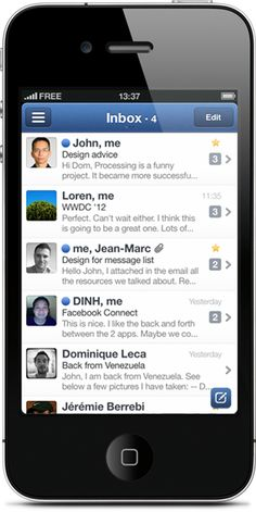 Sparrow for the Mac is great but Sparrow for the iPhone is fantastic. It's fast and fun with an unbelievable multi-touch UI. It's taken all the great techniques and really applied them well. I actually like processing email on my iPhone now!  Update: They sold to Google. Still the best mail app on the iPhone but don't expect bug fixes.