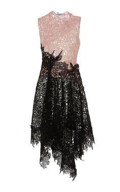 Color-Block Macrame Lace Sleeveless Dress by Blumarine for Preorder on Moda Operandi