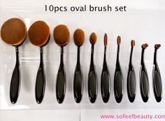 What the what? How are we supposed to paint our faces with the new oval Brush Collection? Get it on www.sofeelbeauty.com