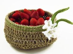 Hand Crocheted Hemp Basket with Spring by VSMHandcraftedDesign, $35.00