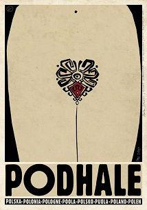 Ryszard Kaja - Podhale, polski plakat turystyczny
