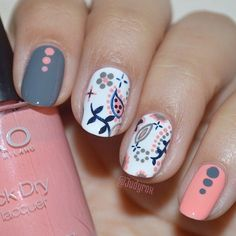 nail art designs 2019 french tip nail designs for short nails essie nail stickers nail art sticker stencils nail art strips Get Nails, Fancy Nails, Love Nails, How To Do Nails, Hair And Nails, Fabulous Nails, Gorgeous Nails, Pretty Nails, Cute Nail Art