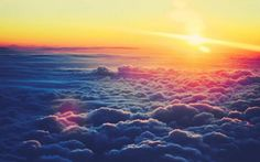 Sunset over Clouds http://sulia.com/my_thoughts/eb70eb0e-56ce-44d4-97c2-d2589188b4a7/?pinner=58049091