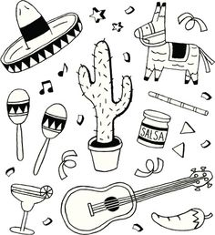 View top-quality illustrations of Fiesta Doodles. Find premium, high-resolution illustrative art at Getty Images. Mexico City Map, Cancun, Mexico Tattoo, Doodle Pages, City Tattoo, Simplistic Tattoos, Thinking Day, Free Illustrations, Paint Designs