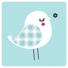 Birdie in Blue par yumiyumi sur Etsy,