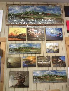 images of Murrells Inlet, SC by artist Gaston Locklear