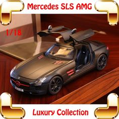 78.21$  Watch here - http://aliw85.worldwells.pw/go.php?t=32479546355 - New Arrival Gift Mercedes SLS AMG 1/18 BIg Metal Model Car Collection Alloy Vehicle For Details Home Decoration Race Toys 78.21$