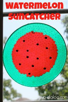 Melted Bead Watermelon Suncatcher