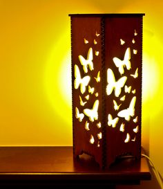Handmade Laser Cut Table/Night/Bedside Lamp 'Butterfly' by SVLaser