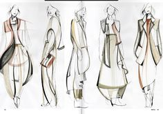 Fashion Sketchbook - fashion design sketches; line up; fashion portfolio // Louise Bennetts