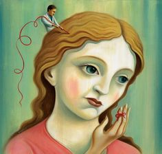 Girl with string #art #painting #buzelli