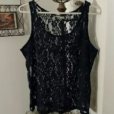 ARIAT NWOT Lace Tank Lacey Tank Navy Blue Ariat Tops Tank Tops