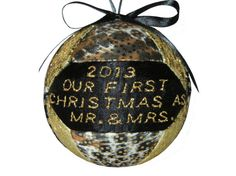 Mr and Mrs First Christmas 2013 Ornament Wedding by craftcrazy4u, $18.00