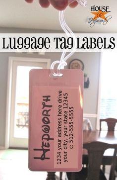 Disney luggage tags.  How to make cheap easy custom Disney luggage tags. #disney #luggage #tags #travel #disneyworld #disneyland