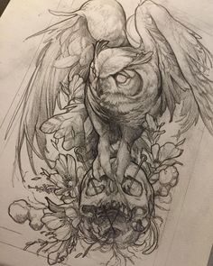 "2,554 Likes, 18 Comments - Daniel Baczewski (@danielbacz) on Instagram: ""possible new @inkdependenttattoos tshirt #vip #sketch #drawing #edinburgh #edinburghtattoo #owl…"""