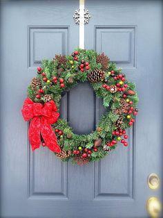 Evergreen Christmas Wreath  Winter Wreath  by WreathsByRebeccaB, $55.00
