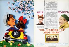 The Courtship of Andy Hardy: Double page spread from Film Daily