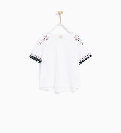 ZARA - KIDS - EMBROIDERED AND TASSELLED T-SHIRT