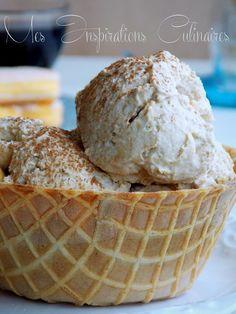 Crème Glacée façon tiramisu Tiramisu, Biscuits, Sorbets, Samar, Iced Coffee, Doughnuts, Caramel Apples, Creme, Jelly