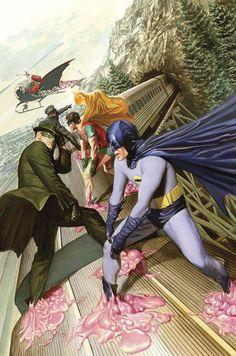 "extraordinary-heroes: ""Batman (Cover art by Alex Ross) "". Green Hornet and Kato Batman Y Robin, Batman 1966, Im Batman, Superman, Comic Book Artists, Comic Book Characters, Comic Character, Comic Books Art, Alex Ross"