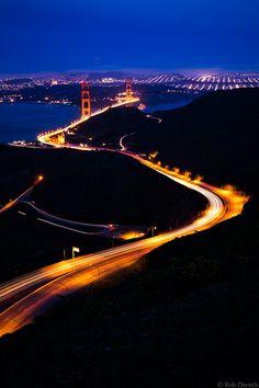 The Golden Gate Bridge at Night, San Francisco
