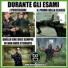 Non ho studiato Really Funny, Funny Cute, The Funny, Funny Video Memes, Funny Jokes, Hilarious, Funny Images, Funny Photos, Italian Memes