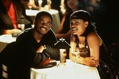 """*One of the greatest black films of the is the love story of Larenz Tate and Nia Long in """"Love Jones."""" For a person who's in their late """"Love Jones"""" seems like such a long time ago. To be exact, """"Love Jones"""" came out in 1997 and was directed by then … 90s Movies, Good Movies, I Movie, Movie Scene, Movie Stars, Nia Long, Movie Couples, Cute Couples, Love Jones Movie"""