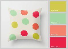 paleta de colores - cojin                                                       …