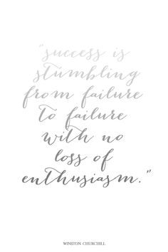 Failure and envy and moving on