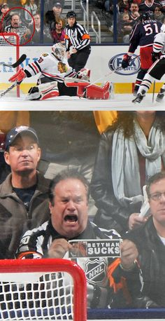 Check out the BEST hockey fan from Saturday Night.