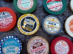 Vintage Milk Cap Magnets by MyFrugalHome on Etsy