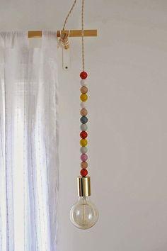 Original lámpara que se puede hacer fácilmente en casa. #iluminación