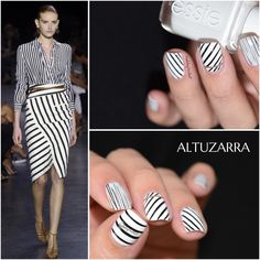 Black and White Fashion Inspired Nails
