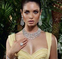 349 Wedding Clear zirconia Crystal Necklace And Earrings,jewelry set,cz jewelry set,bridal jewelry Jewelry Ads, Jewelry Model, High Jewelry, Photo Jewelry, Luxury Jewelry, Fashion Jewelry, Wedding Jewelry, Jewlery, Gold Diamond Earrings