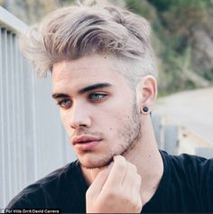 Bleached Hair For Men 2019 Best Hairstyles For Men Dyed Hair Men