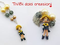 Sailor Uranus - Polymer clay Necklace