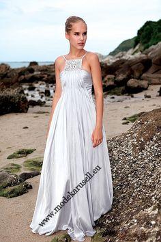 Fashion Evening Gown Dress   Abendmode Abendkleid 2013 Silber  www.modekarusell.eu