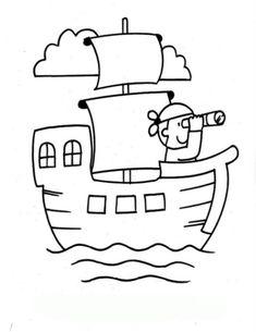 Ausmalbild Piratenschiff kostenlos 1