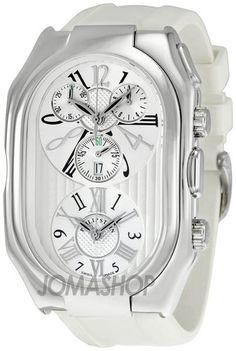 Philip Stein Prestige White Dial Chronograph Mens Watch 13-VW-RW