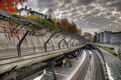 train station stadelhofen in zurich, switzerland | Calatrava. Photo by Toni_V, via Flickr