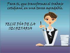 Tarjetas De Feliz Día De La Secretaria | Tarjetas para