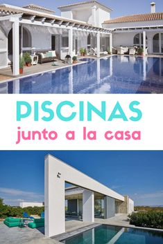 Inspiración para casas con piscina. #piscinas #lujo #albercas #estiloydeco #casasconpiscina Ideas De Piscina, Outdoor Decor, Home Decor, Modern Pools, Modern Houses, Natural Swimming Pools, Construction Materials, Decoration Home, Room Decor