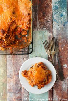 Mexican Lasagna with Hatch Chilies | BoulderLocavore.com