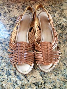 c8e22f735c127 1980 s Light Brown Huaraches woven sandals by shopvintageclectic