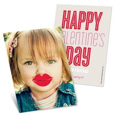Vintage Valentines Cards -- Lips Photo Props